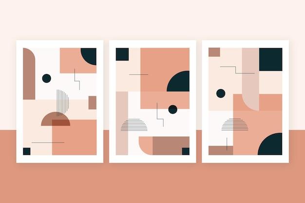 Platte abstracte kunstcollectie Gratis Vector