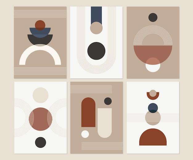 Platte abstracte kunstcollectie