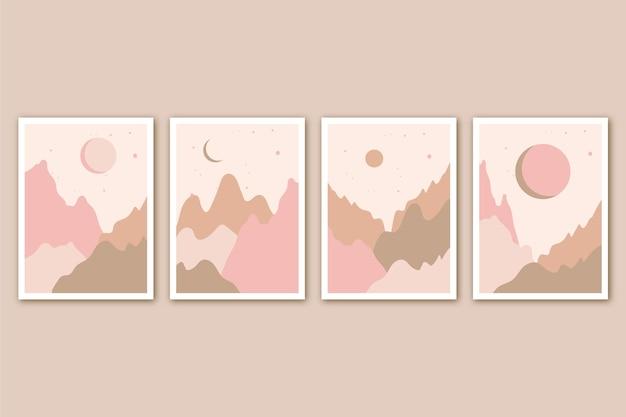 Platte abstracte landschapsomslagen