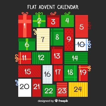 Platte adventskalender