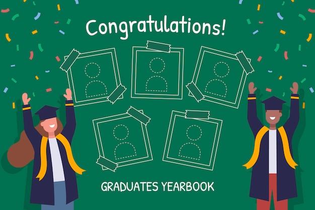Platte afstuderen jaarboeksjabloon