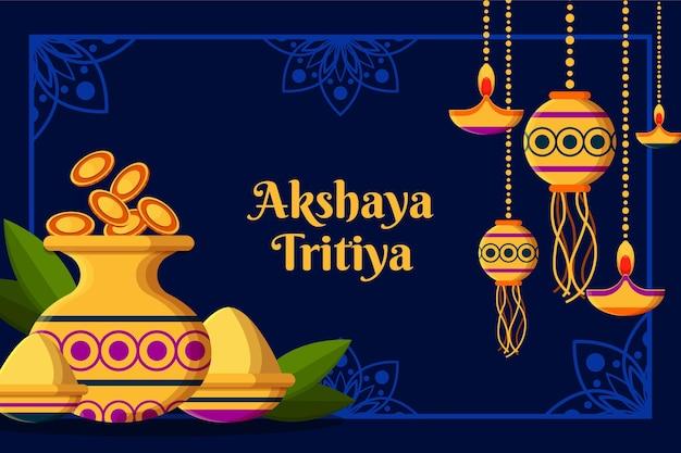 Platte akshaya tritiya illustratie