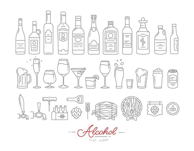 Platte alcohol pictogrammen