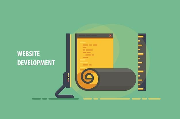 Platte applicatie software codering ontwikkeling, code programmeerproces