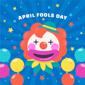 Platte april dwazen dag concept
