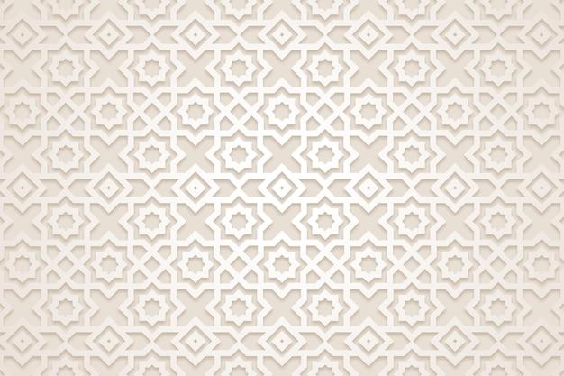 Platte arabische patroonachtergrond