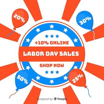 Platte arbeidsdag verkoop achtergrond