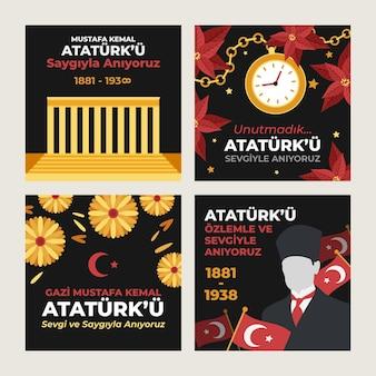 Platte ataturk herdenkingsdag instagram posts collectie