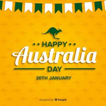 Platte australië dag achtergrond