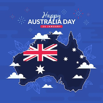 Platte australië dagsjabloon