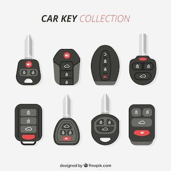 Platte auto sleutel achtergrond
