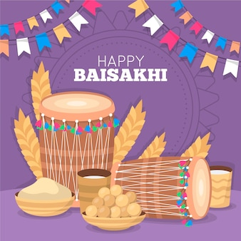 Platte baisakhi illustratie