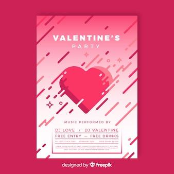 Platte bars valentijnsfeest poster