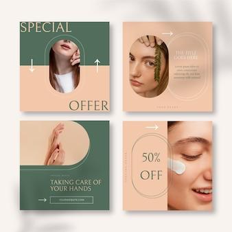 Platte beauty instagram postverzameling