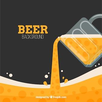 Platte bier achtergrond