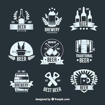 Platte bier logo-collectie