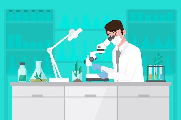 Platte biotechnologie illustratie