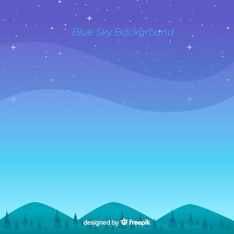 Platte blauwe hemelachtergrond