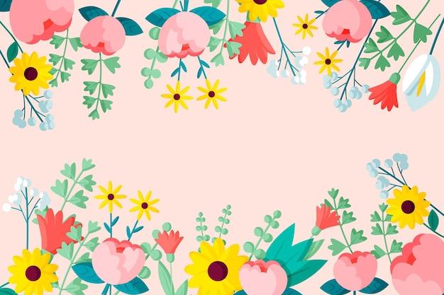 Platte bloemen achtergrond
