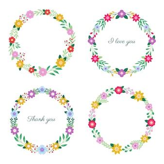 Platte bloemenkransen collectie