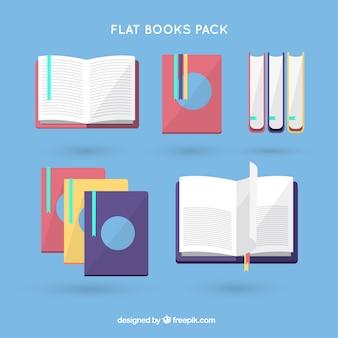 Platte boeken inpakken