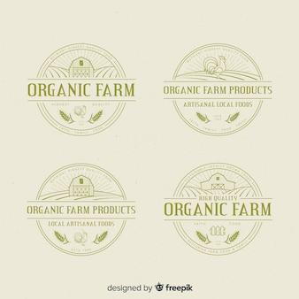 Platte boerderij logo-collectie