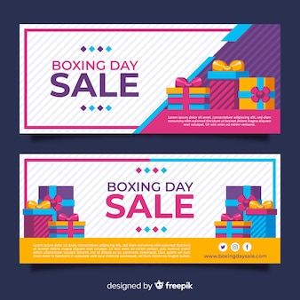 Platte boksen dag verkoop banners