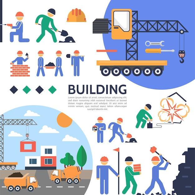 Platte bouwsector sjabloon