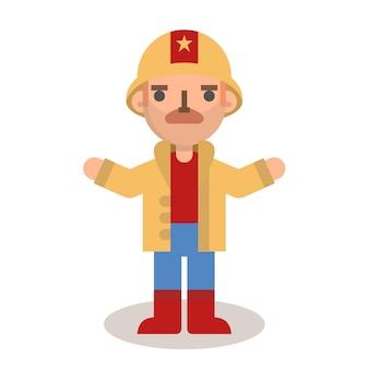 Platte brandweerman man