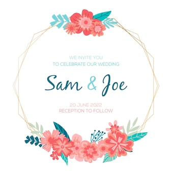 Platte bruiloft bloemenframe