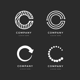 Platte c logo sjabloon pack
