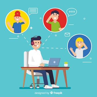Platte call center agent concept