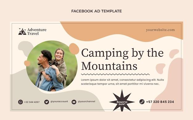 Platte camping door bergen sjabloon