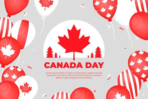 Platte canada dag ballonnen achtergrond
