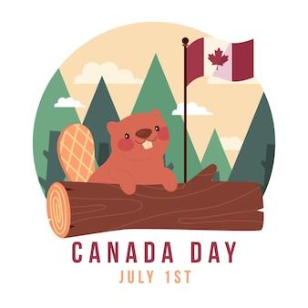 Platte canada dag illustratie