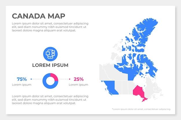 Platte canada kaart infographic