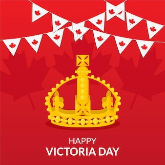 Platte canadese victoria day illustratie