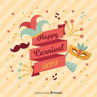 Platte carnaval achtergrond