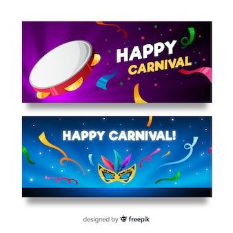 Platte carnaval banner