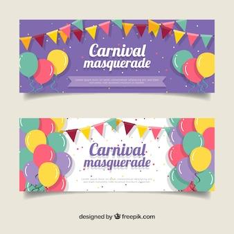 Platte carnaval banners