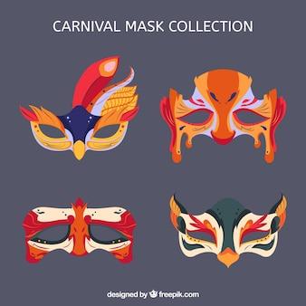 Platte carnaval masker collectie