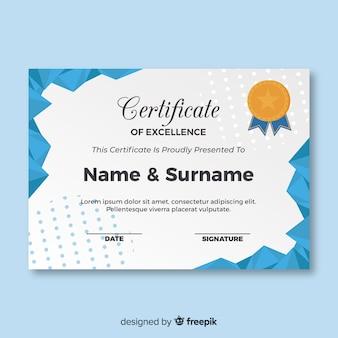 Platte certificaatsjabloon