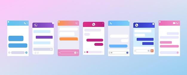 Platte chatbot-dialoogvensters voor klantenondersteuning