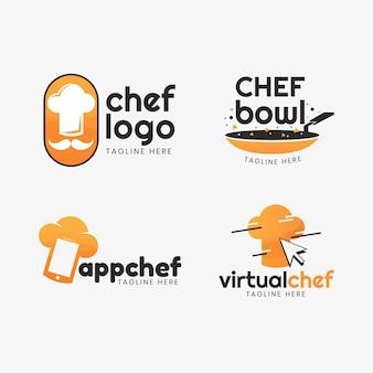 Platte chef-logocollectie