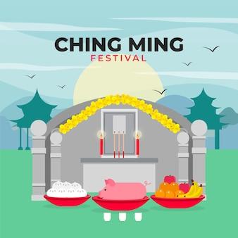 Platte ching ming festival illustratie