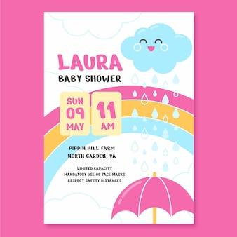 Platte chuva de amor babydouche kaart