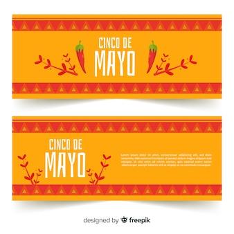 Platte cinco de mayo banners