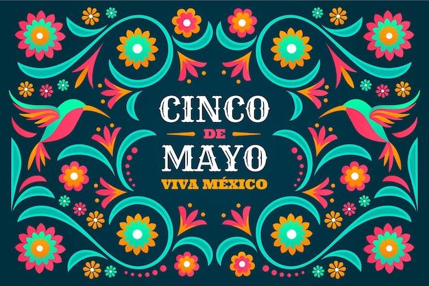 Platte cinco de mayo mexicaanse achtergrond