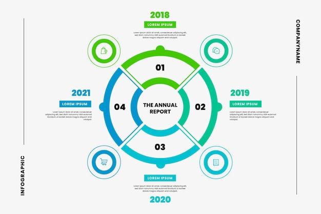Platte circulaire diagram infographic
