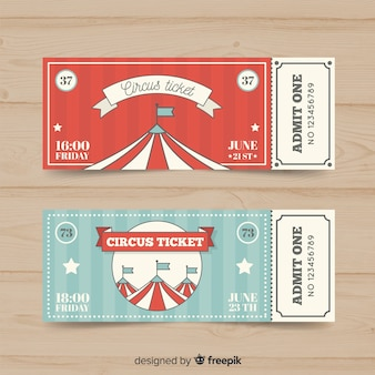 Platte circus ticket sjabloon